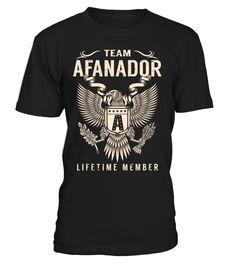 Team AFANADOR Lifetime Member Last Name T-Shirt #TeamAfanador