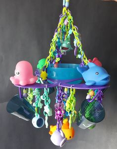 Under the Sea Grand Buffet food station toy for sugar gliders. by MonPetitSugarLove on Etsy Sugar Glider Toys, Sugar Gliders, Diy Parrot Toys, Farm Animals, Small Animals, Seafood Buffet, Sugar Love, Food Stations, Bird Toys
