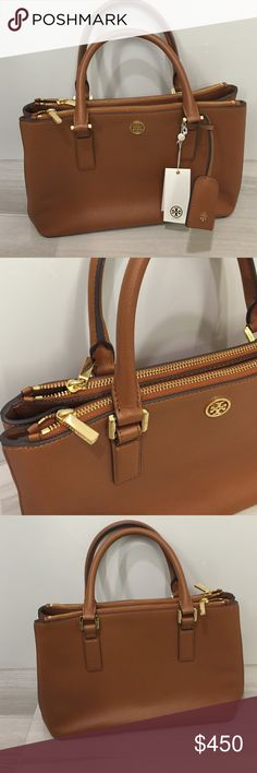 New Tory Burch Robinson Mini Double Ziptote brown This is brand new Tory Burch Robinson Double Ziptote handbag . Color luggage - style 31149772. Tags included but cut off thats how I bought it but never got to use it. It is 100% new no signs of wear anywhere no flaws. ONLY APPROPRIATE OFFERS PLEASE! 🙅🏻 PLEASE DO NOT ASK LOWEST PRICE 🙅🏻 ------------ Instead ---------------- ✅ USE OFFER BUTTON ✅ --------😐 no low balling please😐-------- 💁🏻 NO DRAMA HERE LETS BE NICE 🤗 🚫🚭 SMOKE FREE…