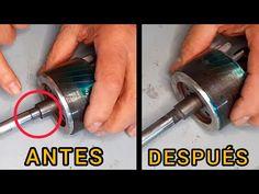 Eje de Motor Gastado, Como Reparar sin Soldaduras / Worn Motor Shaft How to repair without welding - YouTube