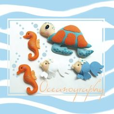 felt sea creatures - great if you could velcro these to an under the sea themed backing board.
