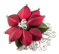 Poinsettia Pin | Free Jewelry Patterns | Prima Bead