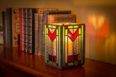 Check out this short overview and video of how I go about the creative process of making a new stained glass candle latern design. Candle Lanterns, Candles, Making Stained Glass, Glass Candle Holders, Custom Design, Table Lamp, Creative, Inspiration, Board