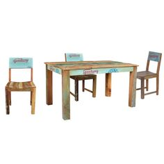 Large Rustic Wood Dining Tables And Chair Set Dining Set, Dining Chairs, Dining Table, Kitchen Chemistry, Reclaimed Wood Furniture, Table And Chair Sets, Rustic Wood, Design, Home Decor