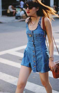 Summer denim dress   #dress #denim #jeans