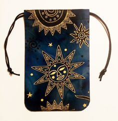 Celestial Brilliant Sun Tarot Bag 5x7 by SpectrumsStudios on Etsy