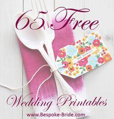 65 Free Wedding PRintables Pinterest