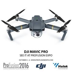 See the amazing new @DJIglobal #mavicpro #quadcopter at #profusionexpo October 5-6 at the #MTCC. Get your free tickets at http://ift.tt/1rYpBoE. Order it today at www.vistek.ca #drones #aerialimaging #aerialvideo #DJI #AerialPhotography #UnmannedAerialVeh