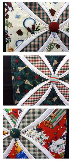 I'm Working on a Project: On The Second Day of Christmas.....Cathedral Window Trivets
