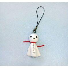 Teru Teru Bozu, keychain,mobile accessories,llavero,colgante movil, japon,japan,amuleto,amulet,tela,fabric,