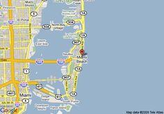 Map of Four Points By Sheraton Miami Beach, Miami