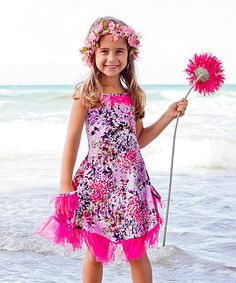 Love this Pink Floral Lace Swing Dress - Toddler & Girls on #zulily! #zulilyfinds