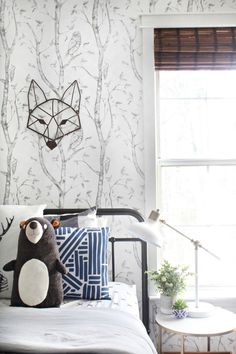 Super cute & neutral woodsy big boy room reveal! - Live Pretty on a Penny