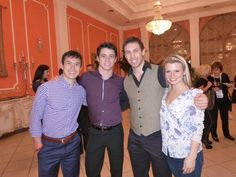 Patrik Chan(Canada),Scott Moir(Canada) ,Dylan Moscovitch(Canada) and Kirstin moore-Towers(Canada)  : ISU Grand Prix of Figure Skating Final 2012 Banquet