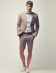 Cocktail attire for a man with a cast on his leg. :)