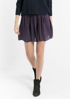 Falda estampada cinturón Mango / 9.99