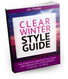 Clear Winter Style Guide - Learn how to wear your clear winter colors. Discover over 100 unique outfit ideas and color combinations in your clear winter colors. Click to learn more...