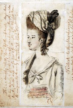 John André an artist, poet, soldier and Royalist spy designed and planned the Meschianza (a made up word from Italian), an extravagant fete with mock jousting in the grand royal european style in 1778 Philadelphia. His sketch of a costume for the event.