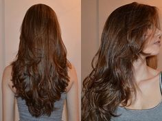 Corte de cabelo feminino longo em camadas
