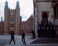 Eton College School Yard and chapel 2009 Boarding School Aesthetic, Prep School, College School, College Humor, My Academia, Aesthetic Boy, College Aesthetic, Old Money, The Secret History