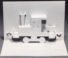 Libros Pop-Up Books Cards: Tarjetas Pop-Up de Tren y Locomotora