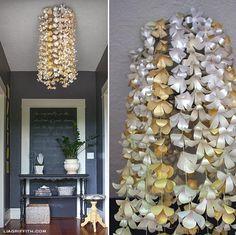 20 lustres feitos com objetos reciclados