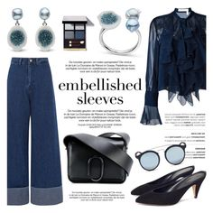 """Make a Statement: Embellished Sleeves"" by littlehjewelry ❤ liked on Polyvore featuring Sea, New York, See by Chloé, 3.1 Phillip Lim, Ray-Ban, contestentry, pearljewelry, littlehjewelry and embellishedsleeves"