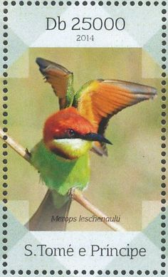 Chestnut-headed Bee-eater stamps - mainly images - gallery format