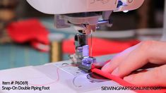 How to Use a Double Piping Foot - Sewing Parts Online Blog