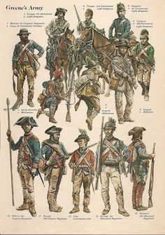 American soldiers at the battle of Guilford Courthouse, 15 March 1781