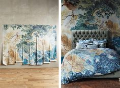 MAISON / Wall Paper Murals by ANTHROPOLOGIE http://brosenose.blogspot.ca/2017/01/maison-wall-paper-murals-by.html