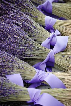 Dried Lavender Flower Bunches with Ribbon  8x12 Original Fine Art Photography Print. $20.00, via Etsy.