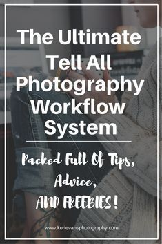 This is the ultimate tell all photography workflow system. From the time your potential client contacts you on the phone or email, to staying on their radar for future bookings!