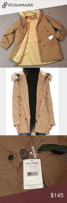 🚨3 DAY SALE - NWT! Free People Winter Coat NWT Free People heavy winter jacket. Perfect for those cold nights that are coming with winter! It is a gorgeous coat it is just a little bit big on me (I have been losing weight and I was hoping a large would fit since I love it so much). Free People Jackets & Coats Utility Jackets