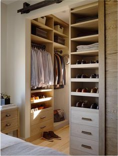 Walk in closet with barn door