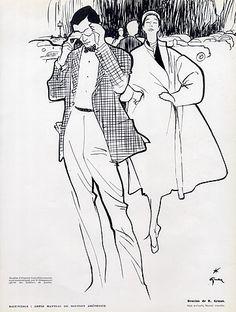 Cristóbal Balenciaga 1951 René Gruau