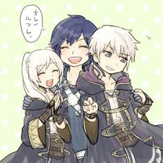 Fire Emblem: Awakening - Robin and Chrom Fire Emblem Chrom, Fire Emblem Fates, Fire Emblem Awakening, Super Smash Bros, Proud Of My Son, Fire Emblem Characters, Chibi Characters, All Things Cute, Creepy Things