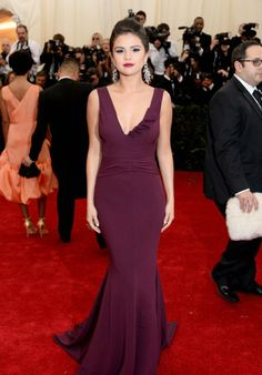 Selena Gomez in Diane von Furstenberg -  Met  Gala 2014