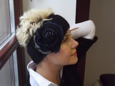 Stirnbänder - Stirnband bestickt mit Glasperlen - ein Designerstück von BeaBaltic bei DaWanda