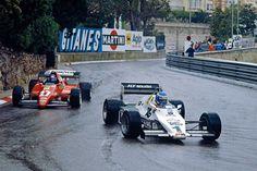 Keke Rosberg, Winner Monaco 1983, Williams FW08C...Behind is Patrick Tambay (Ferrari 126C2B)
