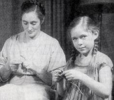 Elizabeth Zimmermann con Meg da bambina