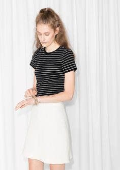 & Other Stories | Striped Crewneck Tee
