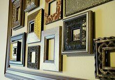 Grouping frames BrassyApple.com #homedecor #frames