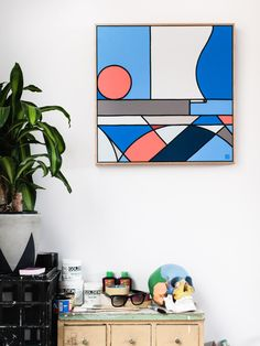 Melbourne artist Stephen Baker in his studio.  Photo – Brook James for thedesignfiles.net
