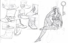 Разная обувь/ как нарисовать обувь