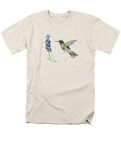 Hummingbird And Bluebonnet - Men's T-Shirt (Regular Fit)