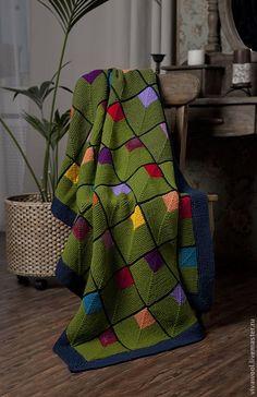 Das neue All Free Knitted Baby Blanket Pattern Das entzückende Baby & Motifs Afghans, Knitted Afghans, Knitted Baby Blankets, Knitting Yarn, Baby Knitting, Knitting Patterns, Crochet Patterns, Square Blanket, Afghan Blanket