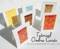 TUTORIAL: Ombré Cards - watercolors + heat embossing