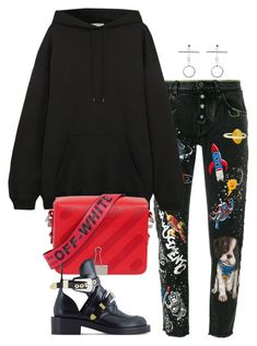 """""""Untitled #1902"""" by emmastrouse ❤ liked on Polyvore featuring Dolce&Gabbana, Balenciaga and Off-White"""