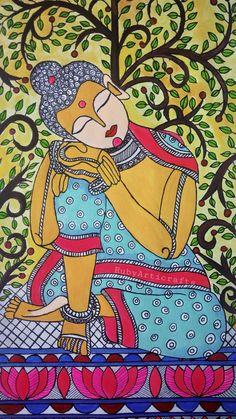 Ganesha Painting, Buddha Painting, Buddha Artwork, Madhubani Art, Madhubani Painting, Art Painting Gallery, Mural Painting, Rajasthani Art, Kalamkari Painting